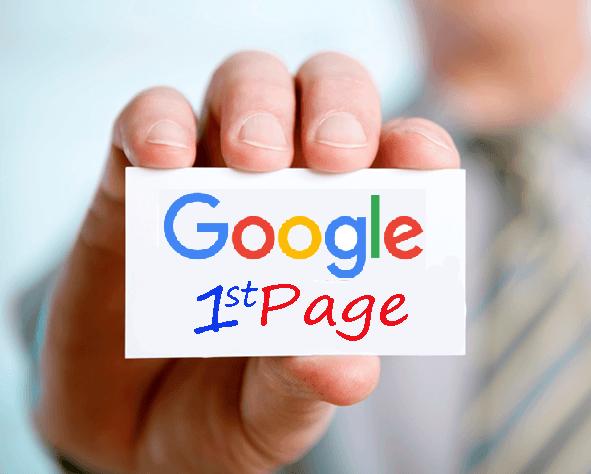 google birinci sayfa